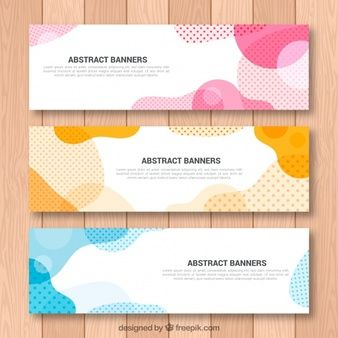 Set of abstract shapes banners   DG   Banner design
