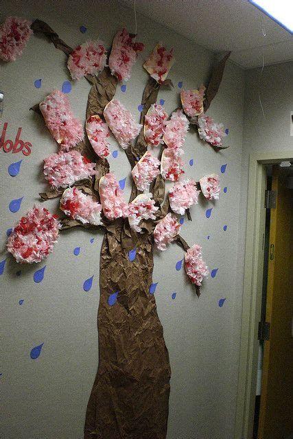 Classroom Tree With Flowers Treeideas Tree Ideas Classroom Tree Cherry Blossom Theme Door Decorations Classroom
