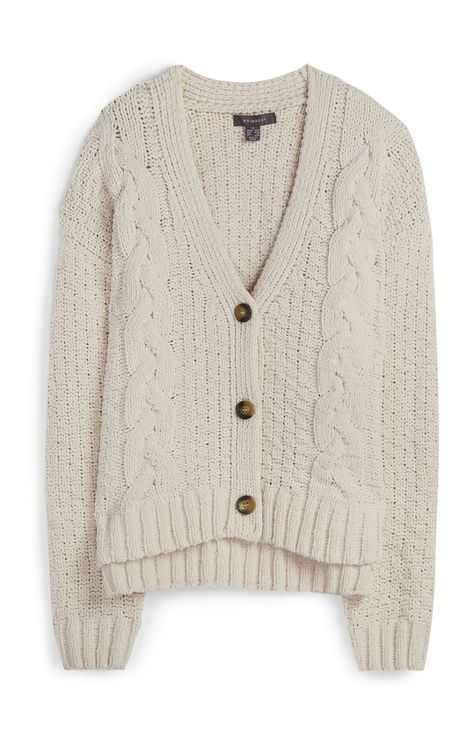 Primark - Cream Chunky Knit Cardigan