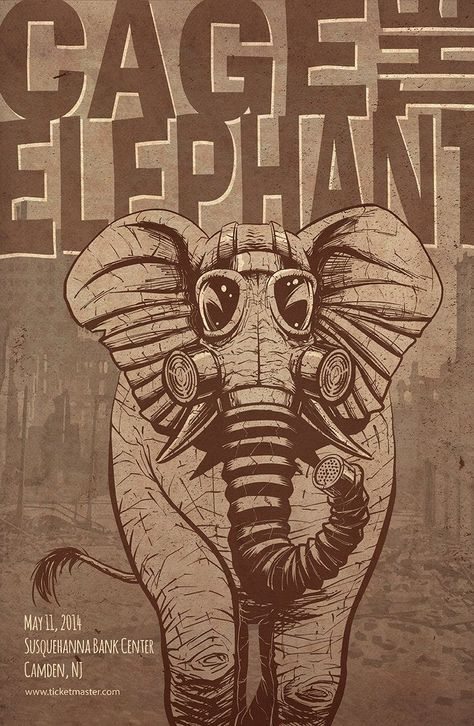 Rock Poster - Cage the Elephant by iamjamesporter