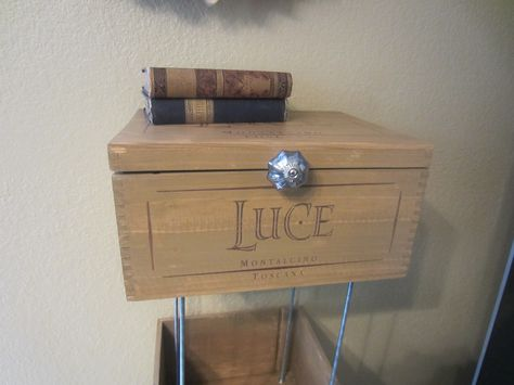 Crate turned into side table/night stand...