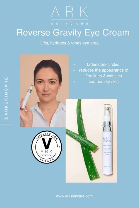 A gravity defying eye treatment to tighten and hydrate the eye area. This hydrating eye cream helps fade dark circles, reduce the appearance of wrinkles, soothe dry skin, and diminish puffiness. The innovative packaging includes a massage ball applicator to help smoothe the soothing eye cream into the delicate eye area. www.arkskincare.com