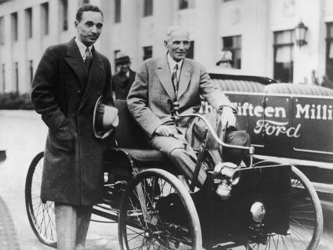 Henry Ford With Son Edsel Photographic Print Henry Ford Edsel Edsel Ford