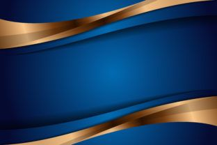 Abstract Background Blue Gold Graphic By Noory.shopper · Creative Fabrica |  Gambar, Desain, Kartun