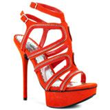 Bebe Shoes's Orange Latasha - Red Suede for 139.99 direct from heels.com