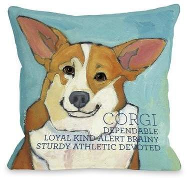 Winston Porter Kaelan Corgi Pillow Throw Pillows Fun Throw Pillows Corgi