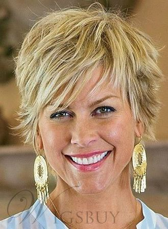 Side Bang Short Layered Capless Synthetic Hair Wigs 8 Inches