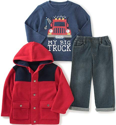 Tortor 1Bacha Little Boys Ripped Demim Jacket With Detachable Fleece Hood
