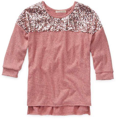 Self Esteem Girls Scoop Neck Long Sleeve T-Shirt-Big Kid #Sponsored , #spon, #Scoop#Neck#Esteem