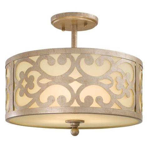 Ceiling Lights Chandeliers River Of Goods 17622 2 Light 15 Wide Semi Flush Ceiling Fixture Bronze Home Furniture Diy Instituteoffinearts Co In