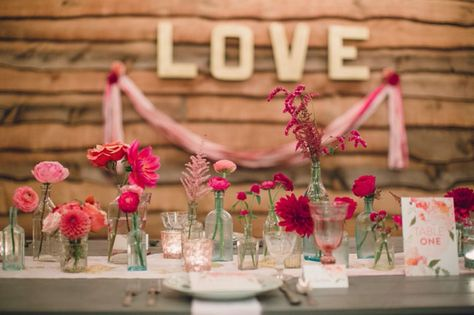 A Terrain at Glen Mills Wedding - so in love with the colors - usually pink = super girly but here it looks romantic and fresh and makes the room look like it has a rosy glow.