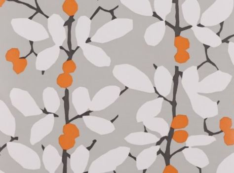 Orange, grey, white wallpaper