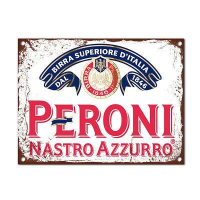Pabst Beer PBR Logo Retro Vintage Bar Pub Man Cave Wall Decor Metal Tin Sign