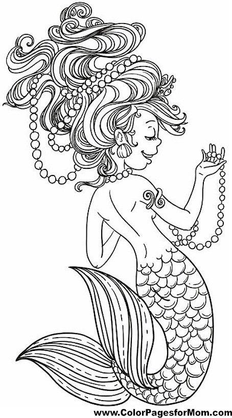 DIY Coloring Book Canvas Art entitled Mermaid