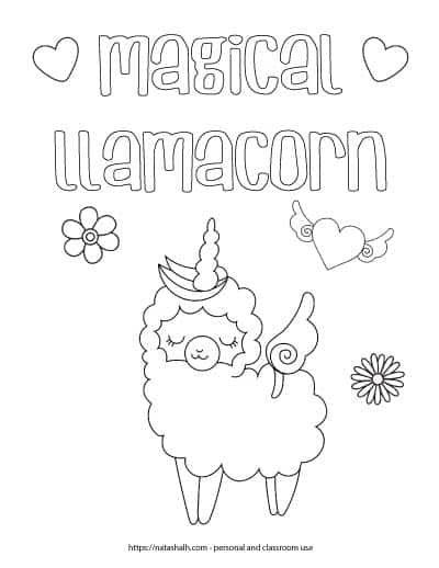 This Free Printable Llamacorn Coloring Page Is So Cute Llama Unicorn Coloring Sheet Free In 2021 Coloring Pages For Kids Coloring Pages Free Printable Coloring Sheets