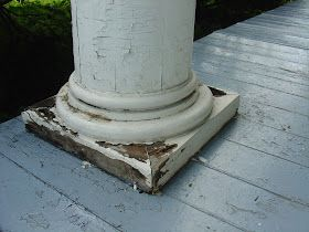 Life At Pugsley It S Raining Time To Replace Porch Column Bases Columns Base Front Design