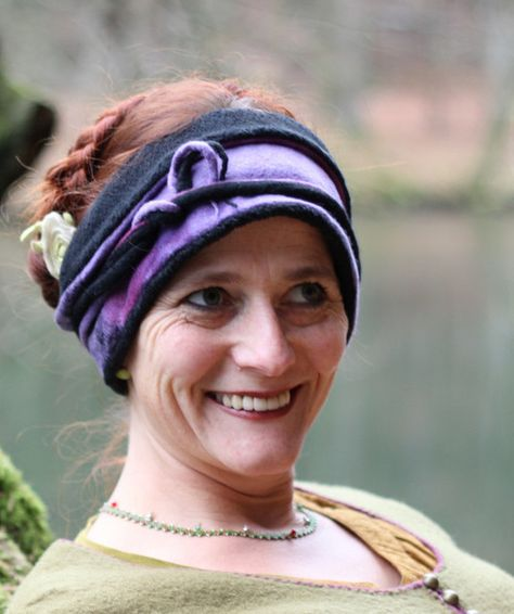 Stirnband zum Wickeln von Frauke-Filz auf DaWanda.com
