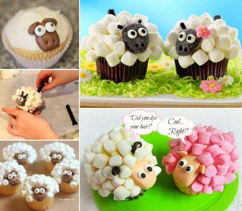 Comment faire ces jolis cupcakes de guimauve en forme de mouton - Quebec echantillons gratuits