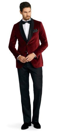 Harford Burgundy Velvet Men's Custom Dinner Jacket
