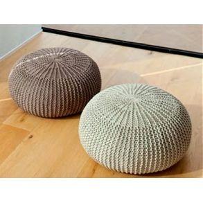Runde strikkede gulvpuffer - gratis download