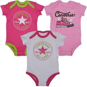 Converse Baby Girls Three Pack Body