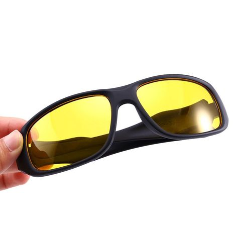 4a5626cf485 Professional Night Driving glasses Anti Glare Glasses For Safety Driving  Sunglasses Yellow Lens Night Vision Goggles (Black Frame Yellow Lens)
