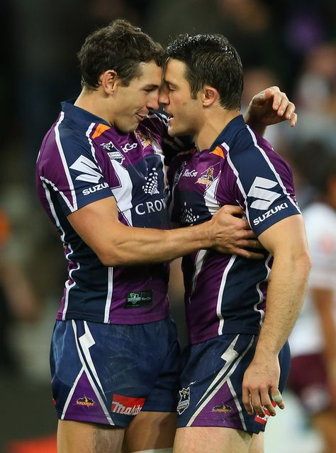 Rugby boys being cute :) Cooper Cronk and Billy Slater