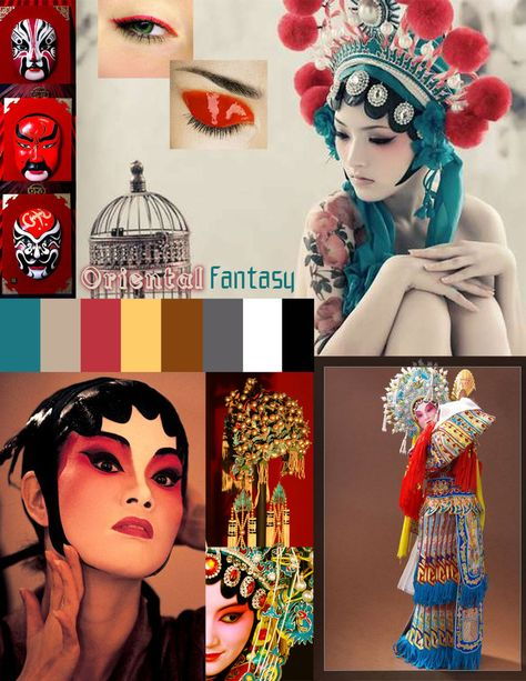 Mood Board Chinese Opera by ~V-Clouve on deviantART