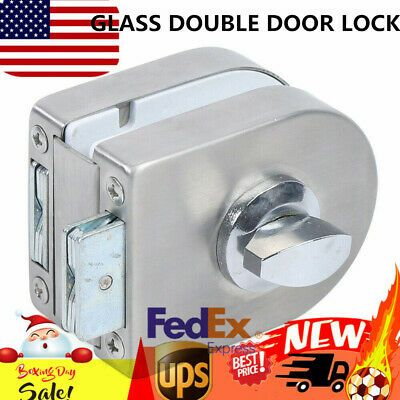 Double Glass Door Lock Stainless Steel Dual Side Unlock Glass Door Lock 10 12mm In 2020 Glass Door Lock Glass Double Doors