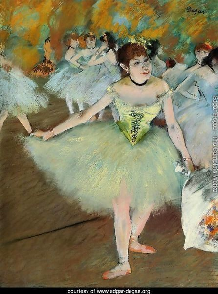 Edgar Degas Dancers in Blue Vintage Wall Art Poster Print Picture Giclee