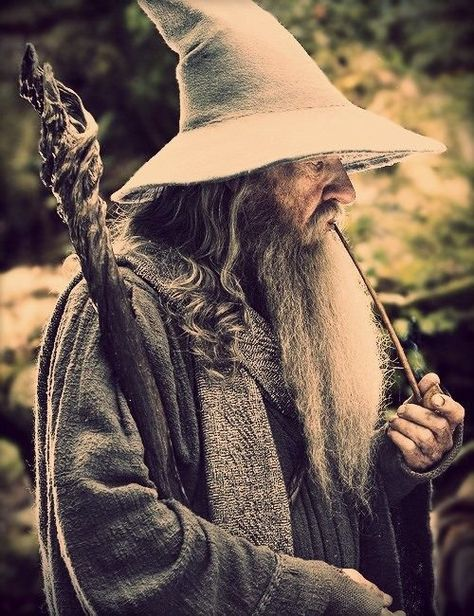 Gandalf from The Lord of the Rings movies and books and The Hobbit movies and book.