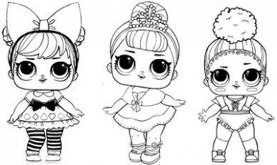 Lol Surprise Doll Coloring Pages Free Printable Coloring