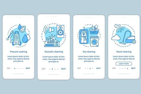 Cleaning methods mobile app screens
