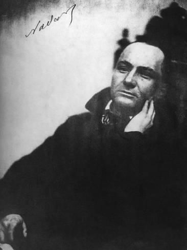 Photographic Print: Charles Baudelaire, French Poet : 24x18in