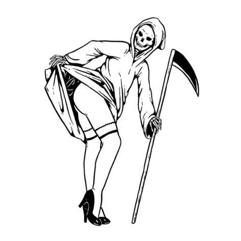 Top 10 Best Simple Grim Reaper Tattoo Design and meaning 2018 collection. make it tattoo on your body and impress your friends goose tattoo Tattoo Sketches, Tattoo Drawings, Art Sketches, Art Drawings, Grim Reaper Tattoo, Grim Reaper Art, Tattoo Bein, Halloween Wallpaper Iphone, Flash Art