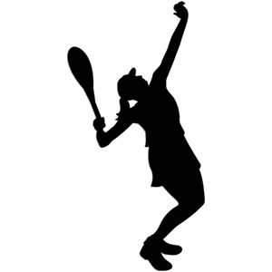 Silhouette Design Store Tennis Serve Girl Tennis Serve Silhouette Silhouette Design