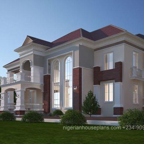 5 Bedroom Duplex Ref 5024 Nigerianhouseplans Arquitectura Casas Planos De Casas 3d Casas Modernas