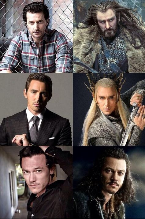 Richard Armitage (Thorin) Lee Pace (Thranduil) and Luke Evans (Bard)