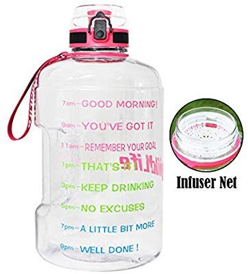 Amazon Com Buildlife Gallon Motivational Water Bottle Wide Mouth With Time Marker Flip Top Motivational Water Bottle Inspirational Water Bottle Water Bottle