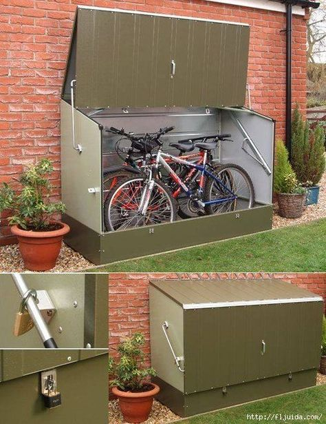 Bike shed and log store combined with the added bonus of a green roof! |  Alternative Gardening | Pinterest | Log store, Green roofs and Logs