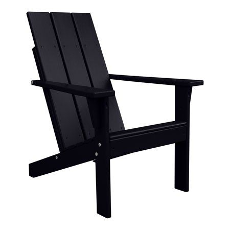 Porchgate Amish Made Heavy Duty Modern Adirondack Chair Charcoal