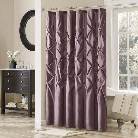 Home Essence Piedmont Tufted Faux Silk Shower Curtain Size 72