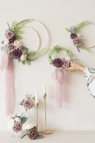 French Style Chic Collection - Floral Wreaths / Pew Flowers / Flower Runner