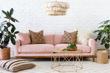 Make Your Living Room Elegant With The Velvet Sofas Pink Sofa Pink Velvet Sofa Living Room Furniture