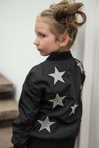 This jacket is the bomb SPARKLE BY STOOPHER Girls Star Bomber Jacket