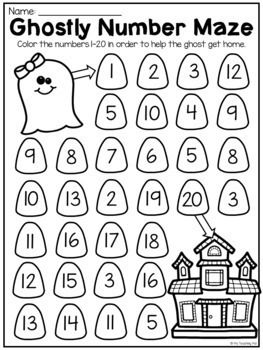Kindergarten Numbers To 20 Worksheet Pack Distance Learning