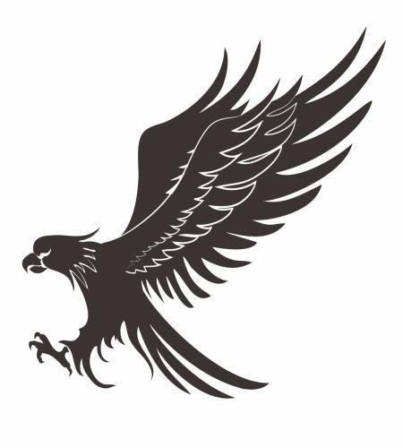 رسم صقر و نسر مميز ملف مفتوح تحميل مباشر Coat Of Arms Bird Vector Free