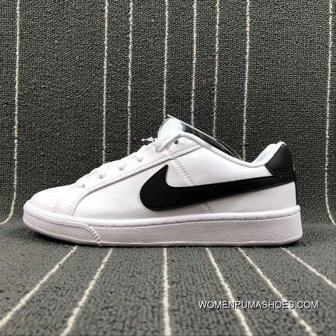 NIKE COURT ROYALE SL 844802 100 White Black Outlet   Nike