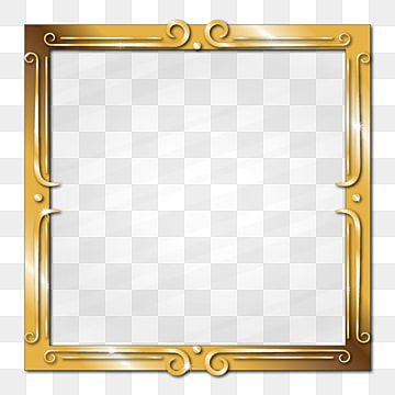 Golden Stylish Picture Frame Border Glass Effect Picture Frame Clipart Gold Golden Png And Vector With Transparent Background For Free Download In 2021 Vintage Photo Frames Frame Clipart Picture Frames