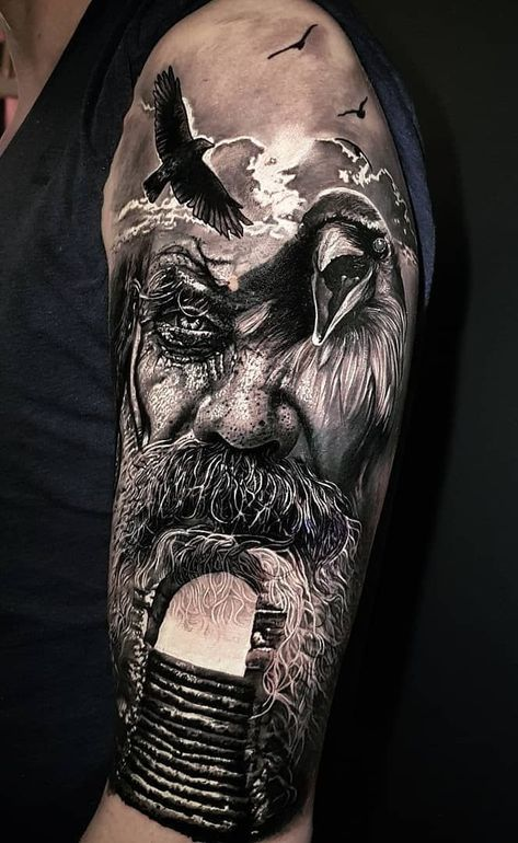 Cool Men Tattoo Design Ideas For Spring Viking Tattoo Sleeve Tattoo Designs Men Mythology Tattoos